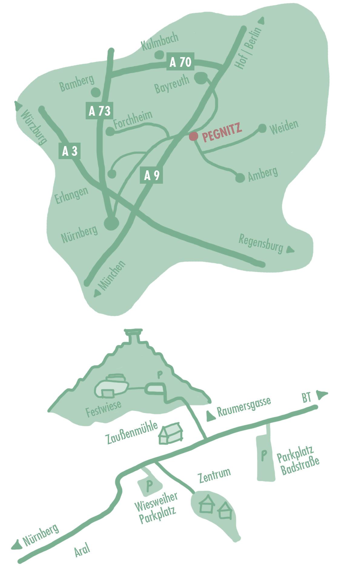 Geländeplan des Waldstock-Festivals am Schloßberg